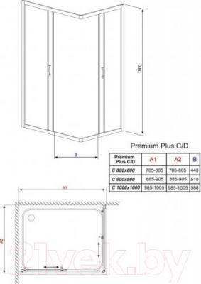 Душевое ограждение Radaway Premium Plus C900 (30453-01-01N)