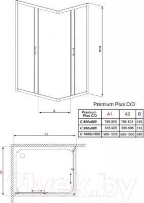 Душевое ограждение Radaway Premium Plus C900 (30453-01-08N)