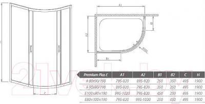 Душевое ограждение Radaway Premium Plus E1900 (30491-01-08N)