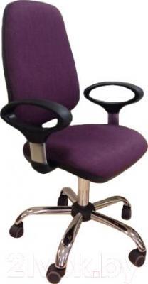 Кресло офисное Chairman 661 Lux Chrom (ткань SX, фиолетовый)