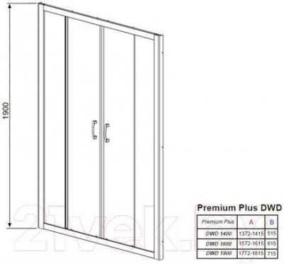 Душевая дверь Radaway Premium Plus DWD (33363-01-06N)