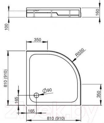 Душевой поддон Radaway Rodos Compact A800 / 4P88155-03