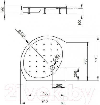 Душевой поддон Radaway Rodos Compact B900 / 4D99155-03