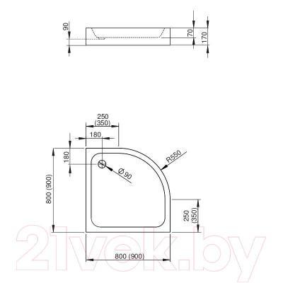 Душевой поддон Radaway Siros A800 Compакt