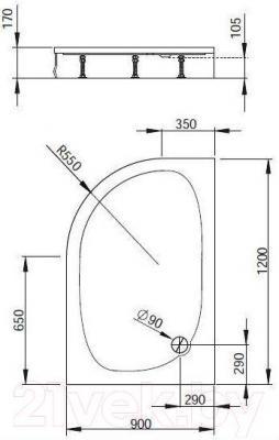 Душевой поддон Radaway Patmos E L (120x90)
