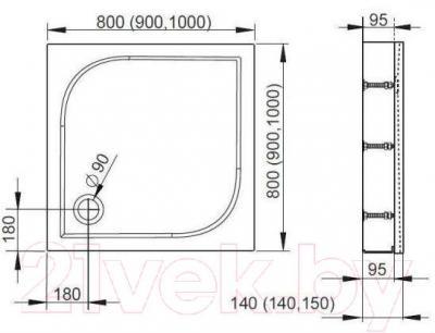 Душевой поддон Radaway Delos C1000 Panel