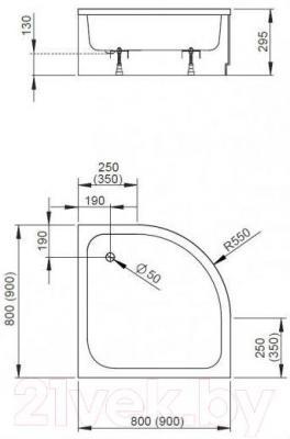 Душевой поддон Radaway Samos A900