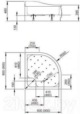 Душевой поддон Radaway Korfu A900 / 4S99400-03