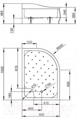 Душевой поддон Radaway Korfu Е1000x800 L / 4E81400-03L
