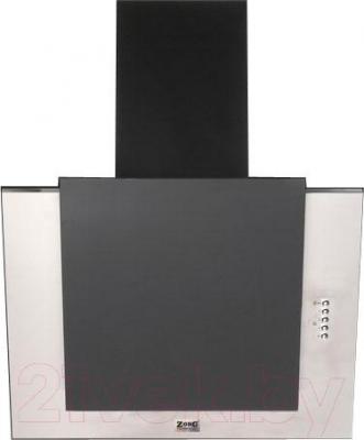 Вытяжка декоративная Zorg Technology Вертикал C (Titan) 1000 (нержавейка, черное стекло) - общий вид