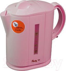 Электрочайник Polly M (розовый) - общий вид