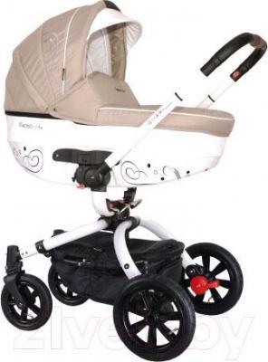 Детская универсальная коляска Coletto Marcello Art 2 в 1 (бежево-белый) - общий вид