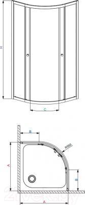 Душевой уголок Radaway Premium A900 (30403-01-01)