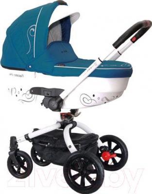 Детская универсальная коляска Coletto Marcello Art 2 в 1 (бирюзово-белый) - общий вид