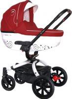 Детская универсальная коляска Coletto Marcello Art 2 в 1 (красно-белый) -