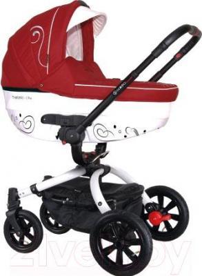 Детская универсальная коляска Coletto Marcello Art 2 в 1 (красно-белый) - общий вид
