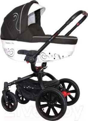 Детская универсальная коляска Coletto Marcello Art 2 в 1 BW (графитово-белый) - общий вид
