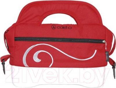 Детская универсальная коляска Coletto Marcello Art 2 в 1 BW (красно-белый) - сумка