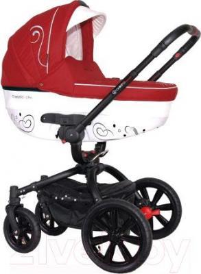Детская универсальная коляска Coletto Marcello Art 2 в 1 BW (красно-белый) - общий вид