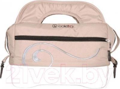 Детская универсальная коляска Coletto Marcello Art 3 в 1 BW (бежево-белый) - сумка