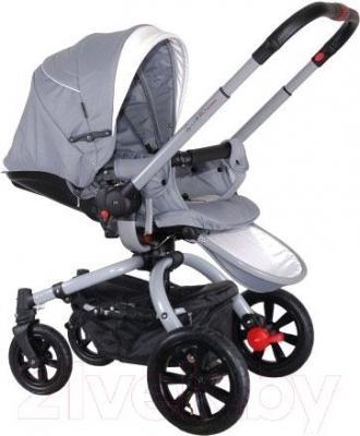 Детская универсальная коляска Coletto Marcello Art 3 в 1 BW (бежево-белый) - прогулочная