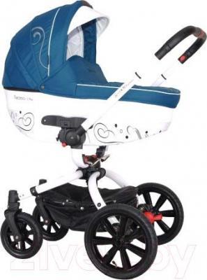 Детская универсальная коляска Coletto Marcello Art 3 в 1 BW (бирюзово-белый) - общий вид