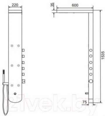 Душевая панель Excellent Actima Pi Oval (ARAC.ML7066EM)