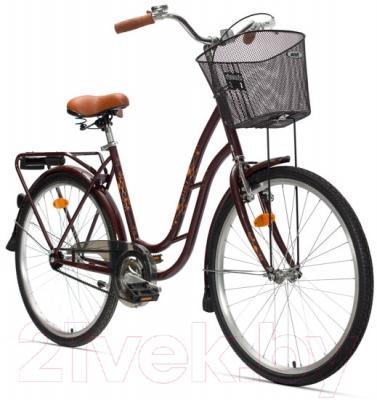 Велосипед Aist 26-210 (коричневый, с корзиной)