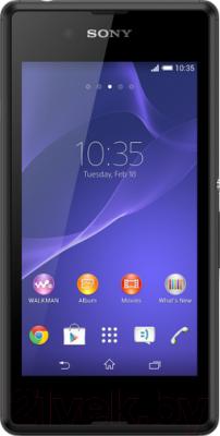 Смартфон Sony Xperia E3 / D2203 (черный) - общий вид