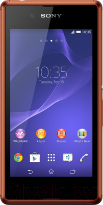 Смартфон Sony Xperia E3 / D2203 (медный) - общий вид