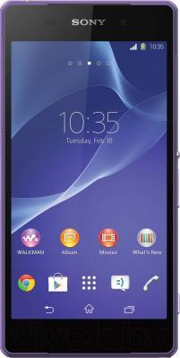 Смартфон Sony Xperia Z2 / D6503 (фиолетовый) - общий вид