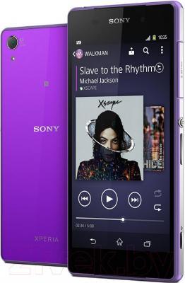 Смартфон Sony Xperia Z2 / D6503 (фиолетовый) - с задней панелью