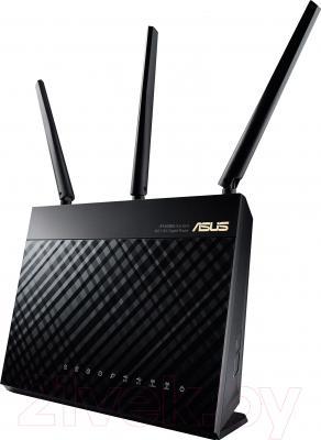Беспроводной маршрутизатор Asus RT-AC68U - вид спереди