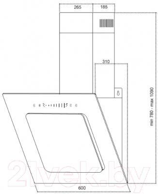 Вытяжка декоративная Germes Delta Sensor (60, слоновая кость)