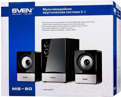 Мультимедиа акустика Sven MS-90 (черный) - в коробке
