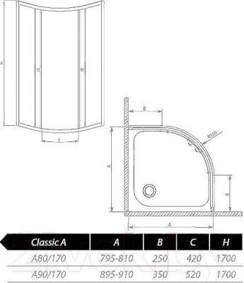 Душевой уголок Radaway Classic A900 (30001-01-01)
