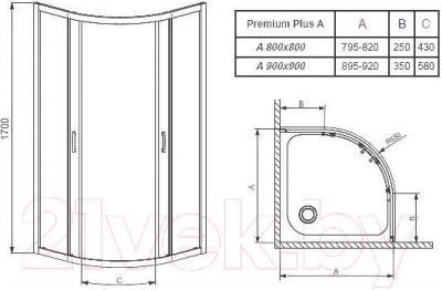 Душевой уголок Radaway Premium Plus A800 (30411-01-01N)