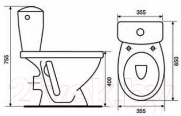 Унитаз напольный Cersanit Koral K010 (чаша+бачок+сиденье)