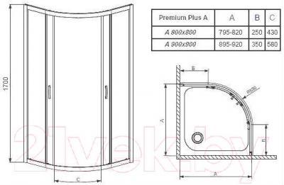 Душевой уголок Radaway Premium Plus A900 (30401-01-01N)