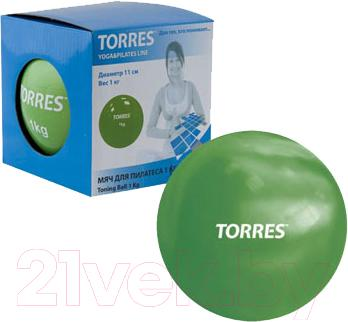 Медицинбол Torres YL00121 (зеленый) - общий вид