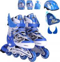 Роликовые коньки Motion Partner MP123L (L, голубые) -