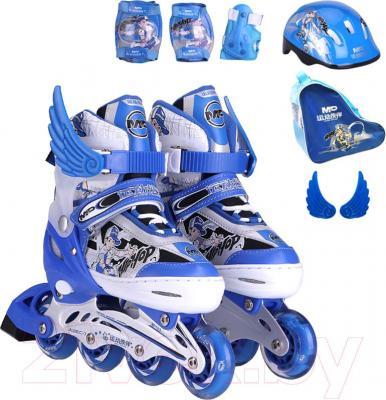 Роликовые коньки Motion Partner MP123L (L, голубые) - комплектация