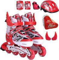 Роликовые коньки Motion Partner MP123L (L, красные) -