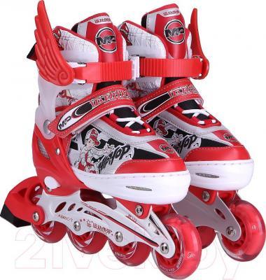 Роликовые коньки Motion Partner MP123L (L, красные) - общий вид