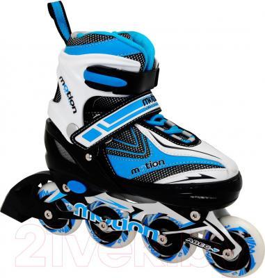 Роликовые коньки Motion Partner MP121L (L, голубые) - общий вид