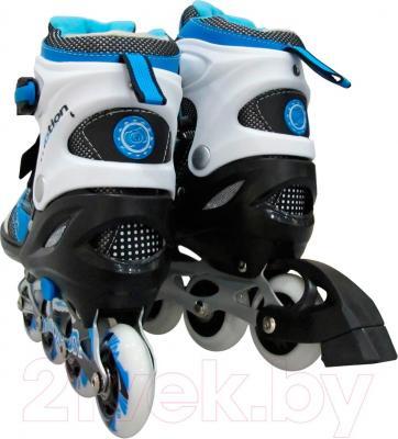 Роликовые коньки Motion Partner MP121L (L, голубые) - вид сзади