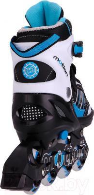 Роликовые коньки Motion Partner MP122L (L, голубые) - вид сзади