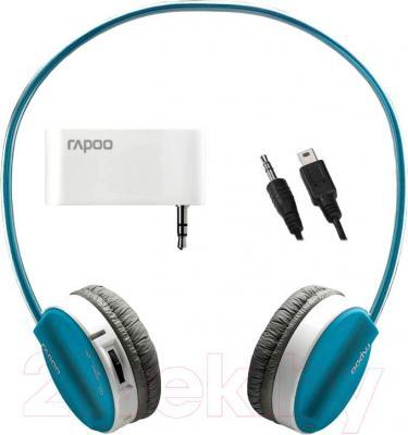 Наушники-гарнитура Rapoo H3070 (комплект: серые и голубые)