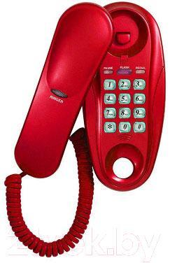 Проводной телефон Supra STL-112 (вишня) - общий вид