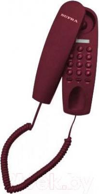 Проводной телефон Supra STL-120 (вишня) - общий вид